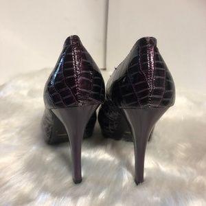 QUPID Shoes - QUPID   SZ 6 PURPLE ANIMAL PRINT  4 INCH HEELS